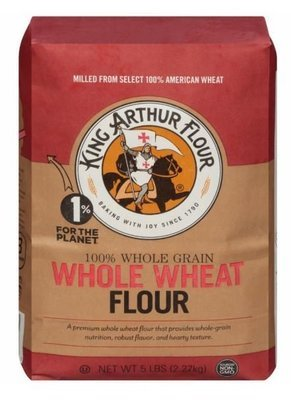 Baking Flour, King Arthur® Premium 100% Whole Wheat Flour (80 oz Bag)