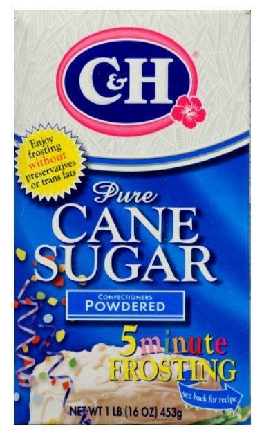 Sugar, C&H® Pure Cane Powdered Sugar (16 oz Box)