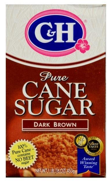 Sugar, C&H® Dark Brown Pure Cane Sugar (16 oz Box)