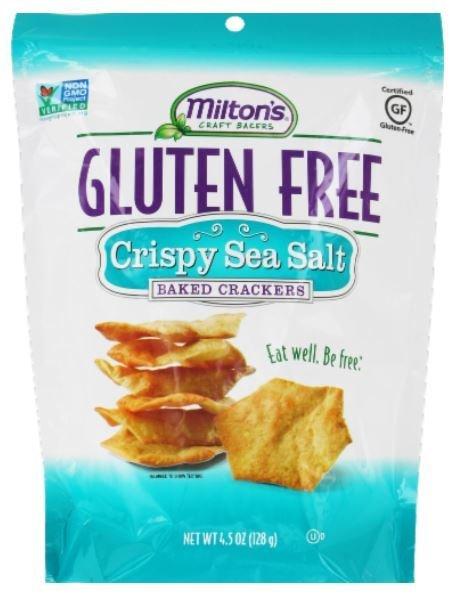 Crackers, Milton's® Gluten Free Sea Salt Baked Crackers (4.5 oz Bag)