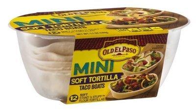 Taco Boats, Old El Paso® Mini Soft Tortilla Taco Boats (12 Boats, 5.1 oz Box)