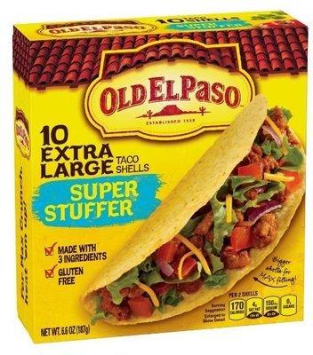 Taco Shells, Old El Paso® Super Stuffer™ Taco Shells (10 Shells, 6.6 oz Box)