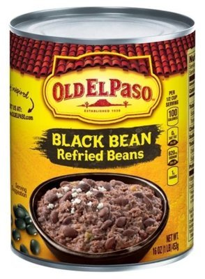 Canned Refried Beans, Old El Paso® Black Refried Beans (16 oz Can)