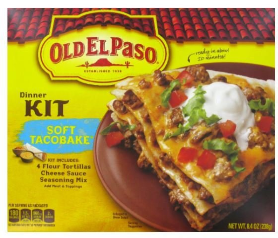 Taco Dinner Kit, Old El Paso® Soft Taco Bake™ Dinner Kit (8.4 oz Box)
