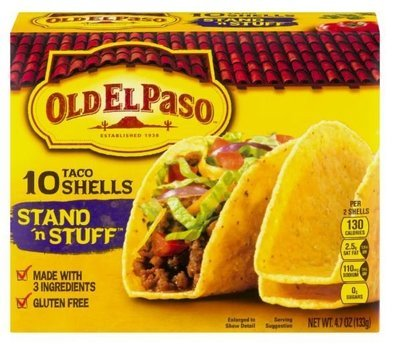 Taco Shells, Old El Paso® Stand 'N Stuff™ Taco Shells (10 Shells, 4.7 oz Box)