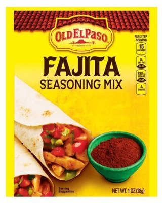 Fajita Seasonings, Old El Paso® Fajita Seasoning Mix (1 oz Bag)