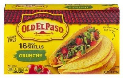 Taco Shells, Old El Paso® Crunchy™ Taco Shells (18 Shells, 6.89 oz Box)