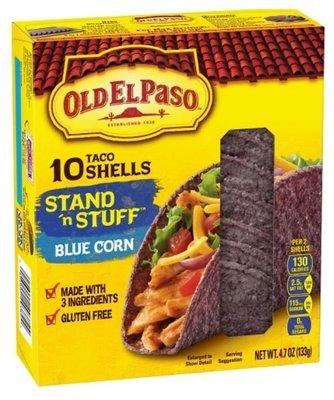 Taco Shells, Old El Paso® Stand 'N Stuff™ Blue Corn Taco Shells (10 Shells, 4.7 oz Box)
