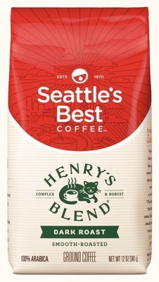 Ground Coffee, Seattle's Best® Henry's Blend™ Dark Roast Ground Coffee (12 oz Bag)
