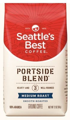 Ground Coffee, Seattle's Best® 6th Avenue Bistro™ Dark Roast Ground Coffee (12 oz Bag)
