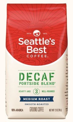 Ground Coffee, Seattle's Best® Portside Blend 3™ Decaf Medium Roast Ground Coffee (12 oz Bag)