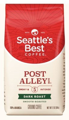 Ground Coffee, Seattle's Best® Port Alley 5™ Dark Intense Ground Coffee (12 oz Bag)