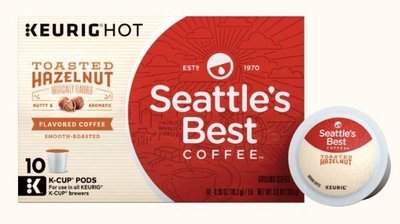 K Cup Coffee, Seattle's Best® Toasted Hazelnut™ K Cup Coffee (Box of 10 Single K Cups)