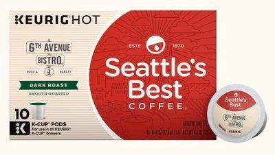 K Cup Coffee, Seattle's Best® 6th Avenue Bistro™ K Cup Coffee (Box of 10 Single K Cups)