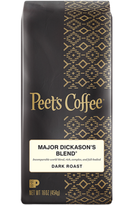 Ground Coffee, Peet's Coffee® Major Dickason's Blend® Ground Coffee (12 oz Bag)