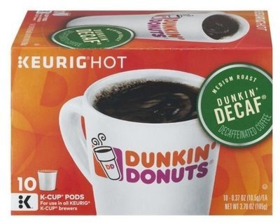 K Cup Coffee, Dunkin' Donuts® Dunkin' Decaf™ K Cup Coffee (Box of 10 Single K Cups)