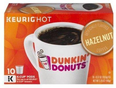 K Cup Coffee, Dunkin' Donuts® Hazelnut™ K Cup Coffee (Box of 10 Single K Cups)