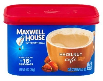 Coffee, Maxwell House® International Cafe, Hazelnut Cafe (9 oz Tub)