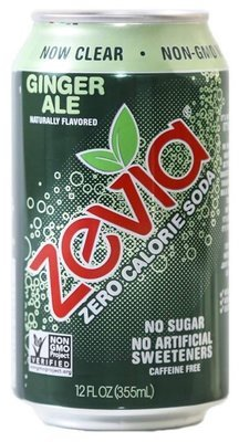 Soda, Zevia® Ginger Ale (Singe 12 oz Can)