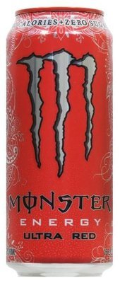 Energy Drink, Monster® Ultra Red™ Energy Drink (16 oz Can)