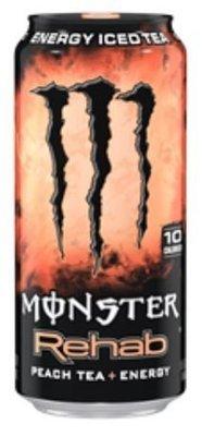 Energy Drink, Monster® Rehab Peach Tea + Energy™ Drink (15.5 oz Can)