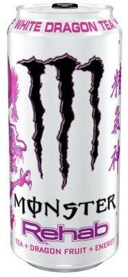Energy Drink, Monster® Rehab White Dragon Tea™ Energy Drink (15.5 oz Can)