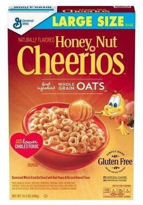 Cereal, General Mills® Cheerios® Honey Nut Cereal (Large Size-15.4 oz Box)