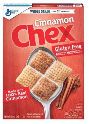 Cereal, General Mills® Chex® Cinnamon Cereal (12.1 oz Box)