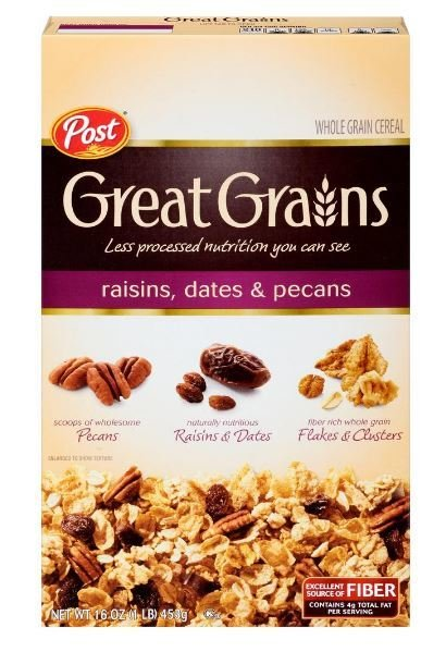 Cereal, Post® Great Grains™ Raisins Dates & Pecans Cereal (16 oz Box)