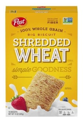 Cereal, Post® Shredded Wheat™ Big Biscuit Cereal (15 oz Box)