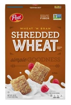 Cereal, Post® Shredded Wheat™ Wheat'n Bran Cereal (18 oz Box)