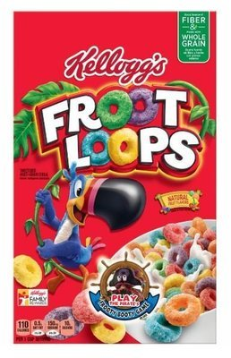 Cereal, Kellogg's® Froot Loops™ Cereal (17 oz Box)