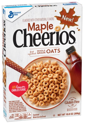 Cereal, General Mills® Cheerios® Maple Cereal (10.8 oz Box)