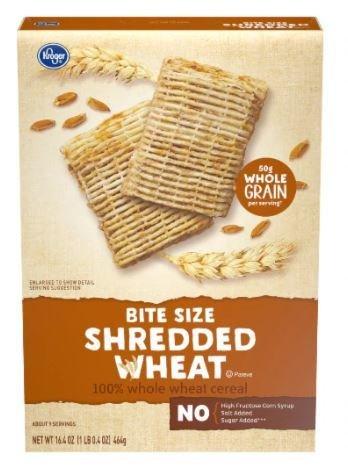 Cereal, Kroger® Bite Size Shredded Wheat Cereal (16.4 oz Box)