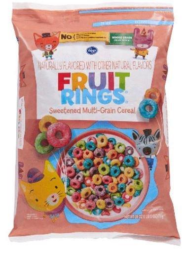 Cereal, Kroger® Fruit Rings Cereal (28 oz Bag)