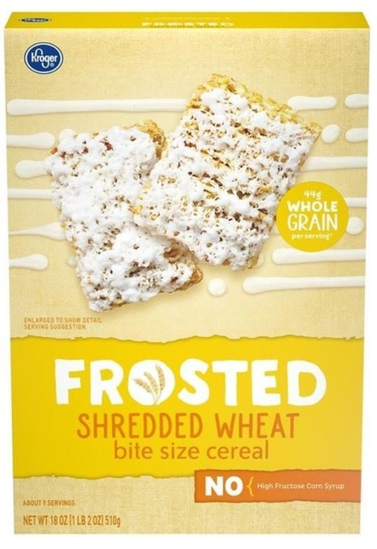 Cereal, Kroger® Bite Size Frosted Shredded Wheat Cereal (18 oz Box)