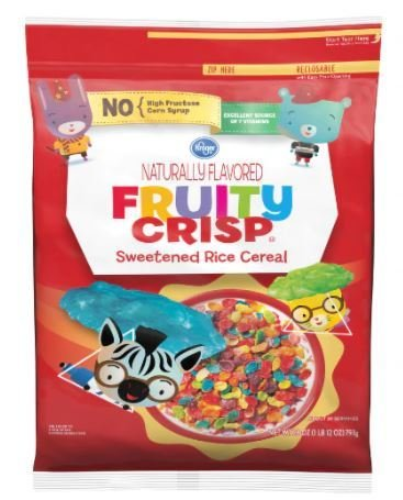 Cereal, Kroger® Fruity Crisp Cereal (28 oz Bag)