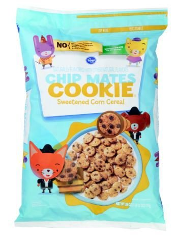 Cereal, Kroger® Chip Mates Cookie Sweetened Corn Cereal (28 oz Bag)