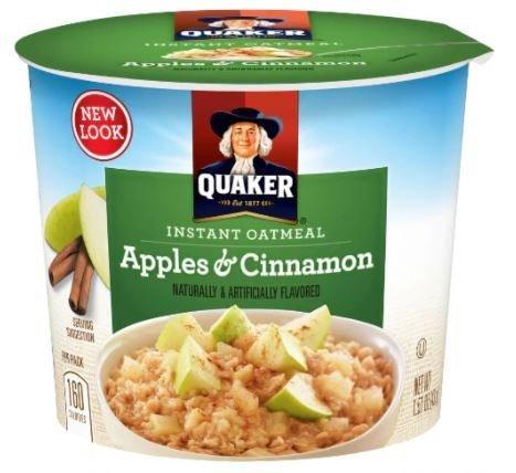 "Hot Cereal, Quaker Oats® Instant Oatmeal ""Apples & Cinnamon"" (1.51 oz Cup)"