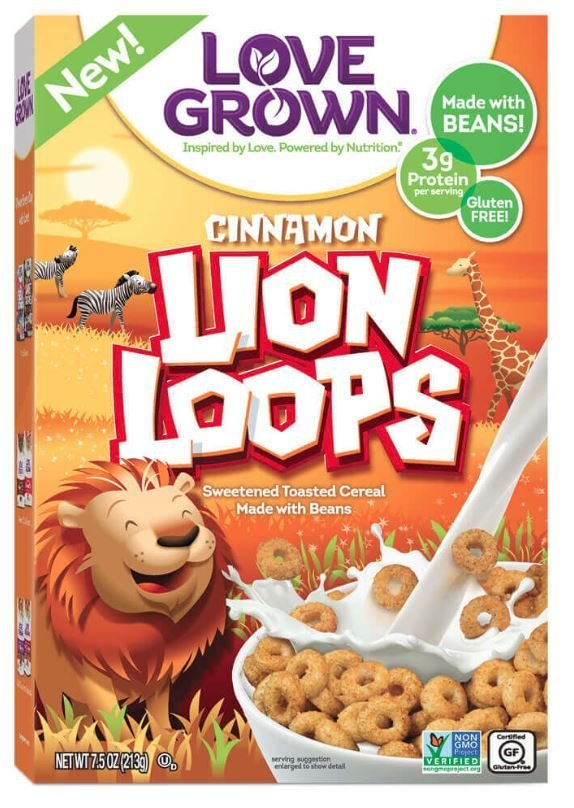 Cereal, Love Grown® Lion Loops™ Cereal (7.5 oz Box)