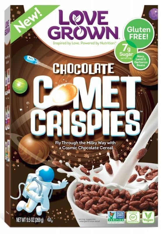 Cereal, Love Grown® Comet Crispies™ Cereal (9.5 oz Box)