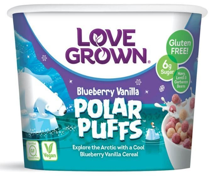 Cereal, Love Grown® Polar Puffs™ Cereal (Single Serve 1.1 oz Cup)