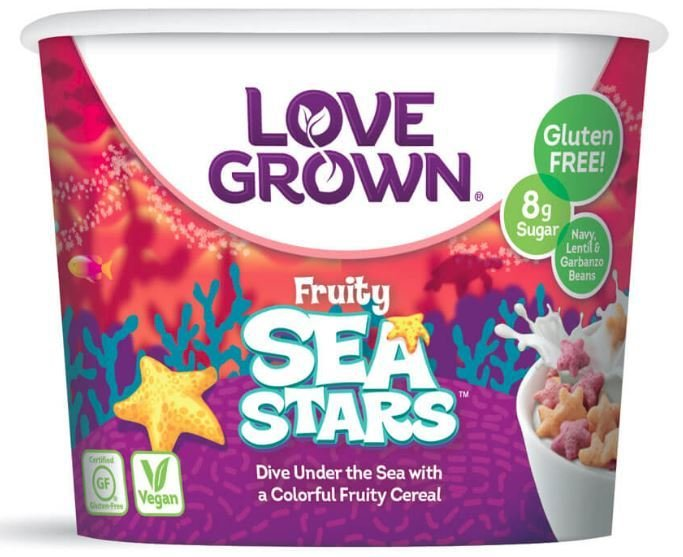 Cereal, Love Grown® Fruity Sea Stars™ Cereal (Single Serve 1.1 oz Cup)