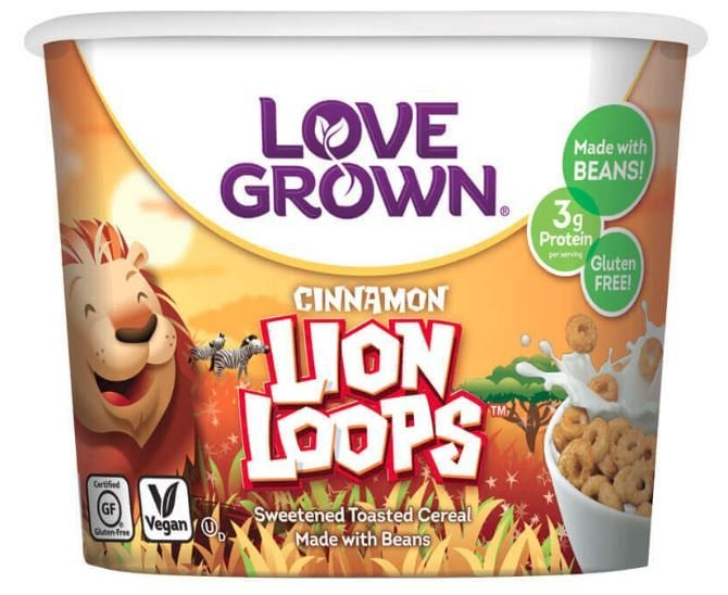 Cereal, Love Grown® Cinnamon Lion Loops™ Cereal (Single Serve 1.1 oz Cup)