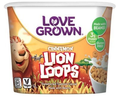 Cereal, Love Grown® Cinnamon Lion Loops™ Cereal (Single Serve 1.1 oz Cup)
