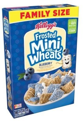 Cereal, Kellogg's® Frosted Mini-Wheats™ Blueberry Cereal (Family Size-21 oz Box)