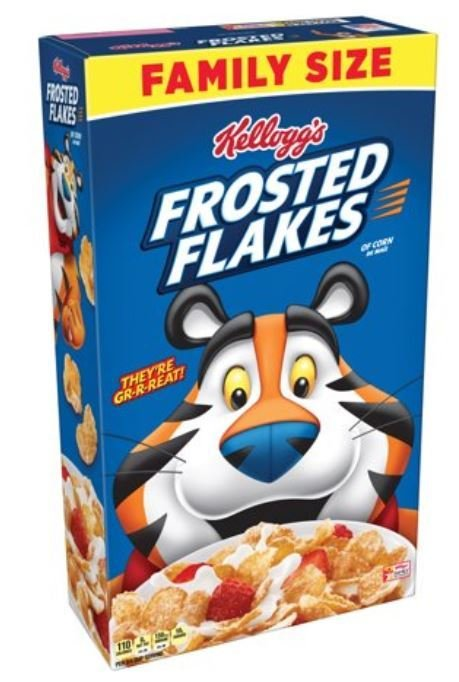 Cereal, Kellogg's® Frosted Flakes™ Cereal (Family Size-24 oz Box)