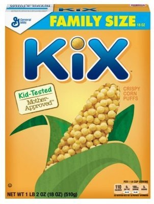 Cereal, General Mills® Kix® Cereal (Family Size-18 oz Box)