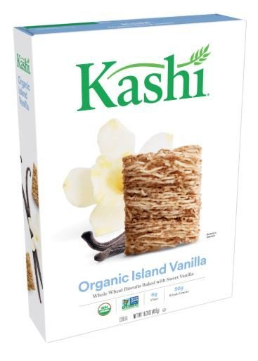 Cereal, Kashi® Organic Biscuits™ Island Vanilla Cereal (16.3 oz Box)