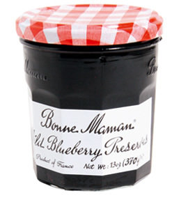 Fruit Spread, Bonne Maman® Wild Blueberry Preserves (13 oz Jar)